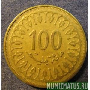 Арабская монета 100 монеты французских колоний